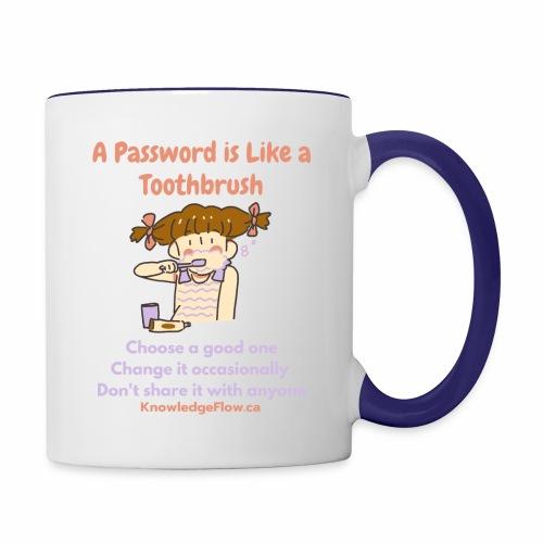 A Password is Like a Toothbrush...(1) - Contrast Coffee Mug