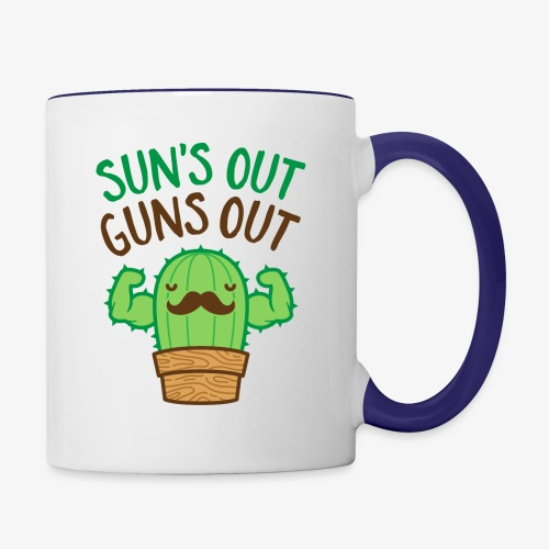 Sun's Out Guns Out Macho Cactus - Contrast Coffee Mug