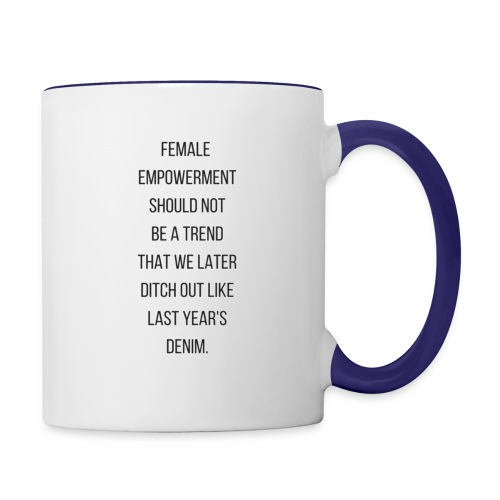 Female Empowerment - Contrast Coffee Mug