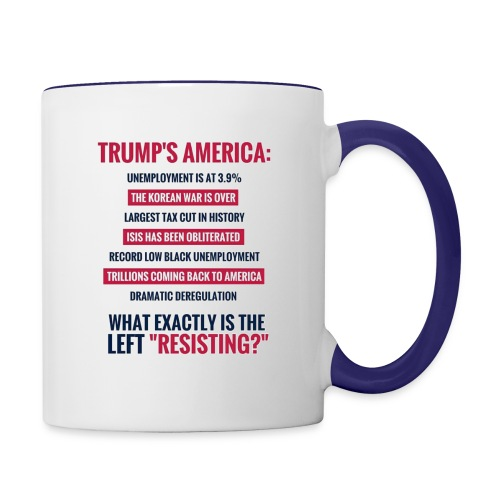 Resist what? - Contrast Coffee Mug