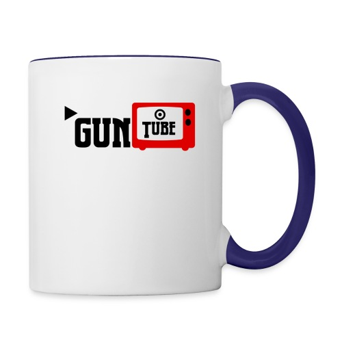 guntube larger logo - Contrast Coffee Mug