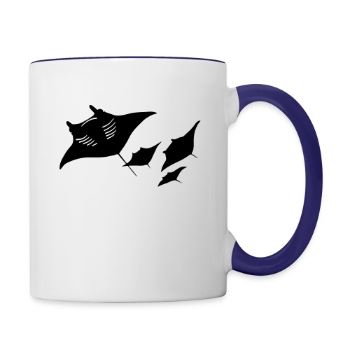 manta ray sting scuba diving diver dive - Contrast Coffee Mug