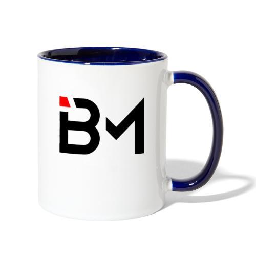 bench mob logo no lettering (black) - Contrast Coffee Mug