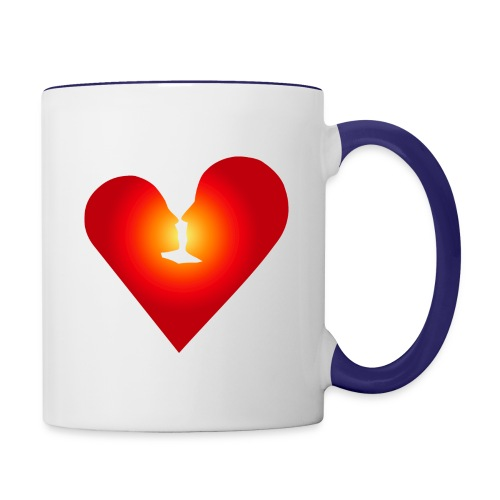 Loving heart - Contrast Coffee Mug