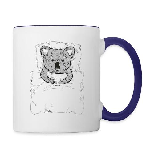 Print With Koala Lying In A Bed - Contrast Coffee Mug