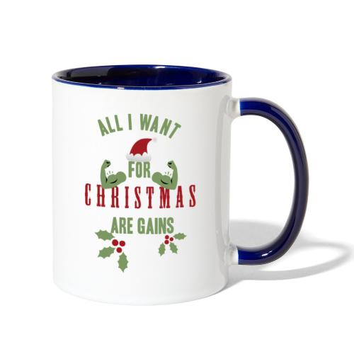 All i want for christmas - Contrast Coffee Mug
