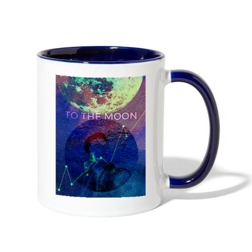 DOGE TO THE MOON - Contrast Coffee Mug