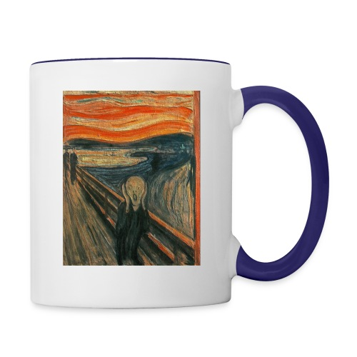 The Scream (Textured) by Edvard Munch - Contrast Coffee Mug