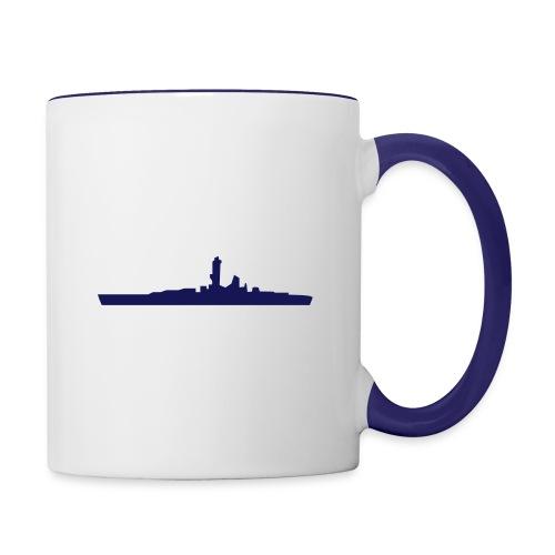 Battleship & UK Union Jack - Contrast Coffee Mug