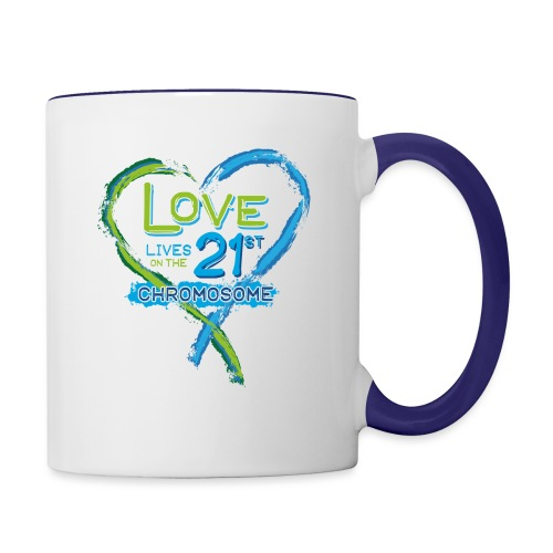 Down Syndrome Love (Blue) - Contrast Coffee Mug