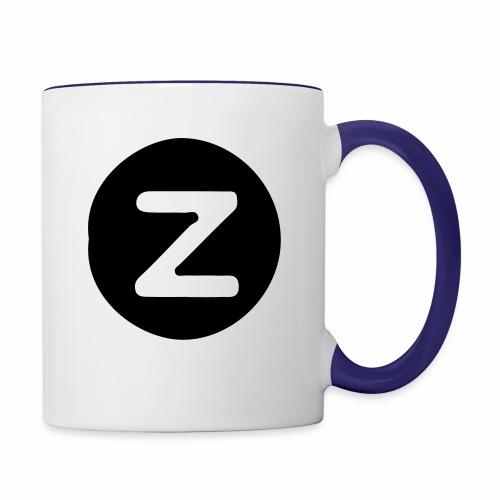 z logo - Contrast Coffee Mug