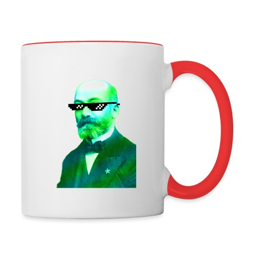Green and Blue Zamenhof - Contrast Coffee Mug