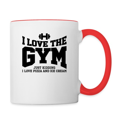 I love the gym - Contrast Coffee Mug