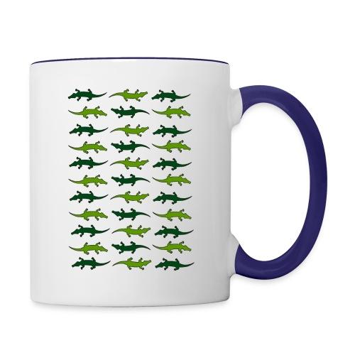 Crocs and gators - Contrast Coffee Mug