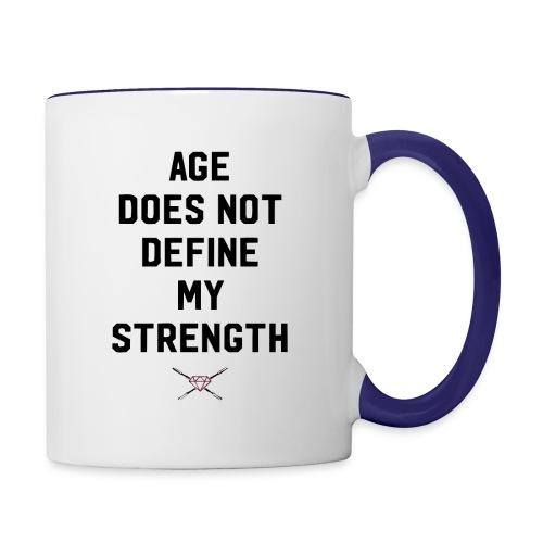 age strength black - Contrast Coffee Mug