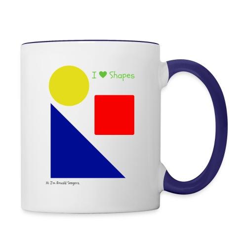 Hi I'm Ronald Seegers Collection-I Love Shapes - Contrast Coffee Mug