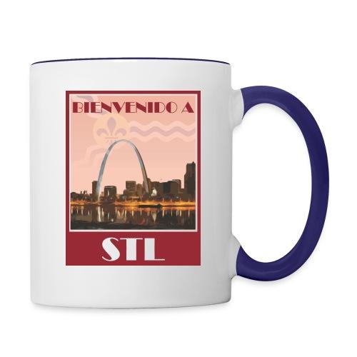 Bienvenido STL Skyline - Contrast Coffee Mug