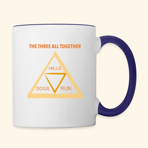 Run4Dogs Triangle - Contrast Coffee Mug