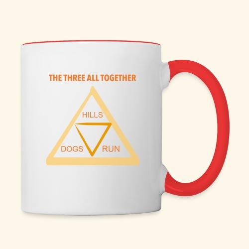 Run4Dogs Triangle - Contrast Coffee Mug