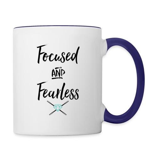 focused fearless (black) - Contrast Coffee Mug