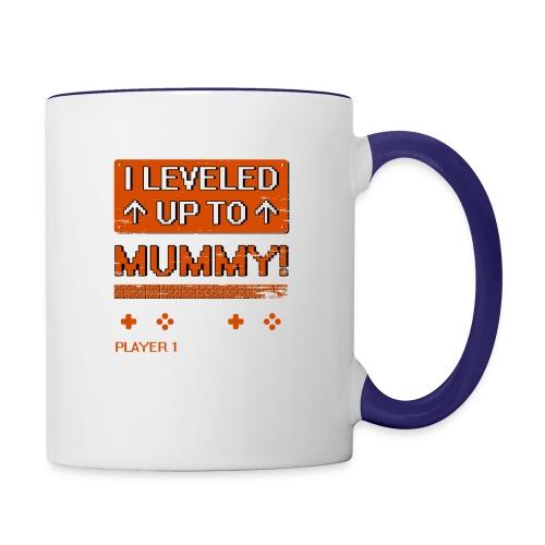 I Leveled Up To Mummy - Contrast Coffee Mug