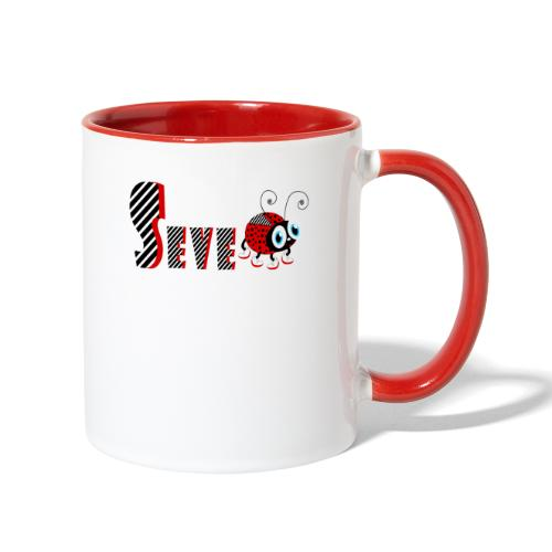 7nd Year Family Ladybug T-Shirts Gifts Daughter - Contrast Coffee Mug