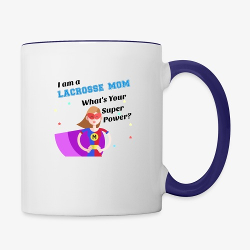 lax mom hero - Contrast Coffee Mug