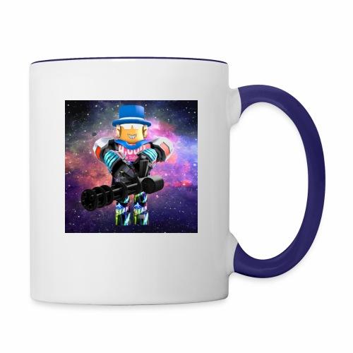 sean roblox character with minigun - Contrast Coffee Mug