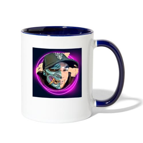 Oni mask - Contrast Coffee Mug