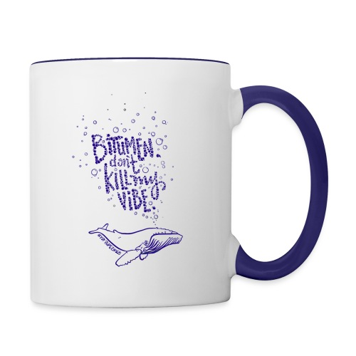 bitumen don't kill my vibe - navy - Contrast Coffee Mug