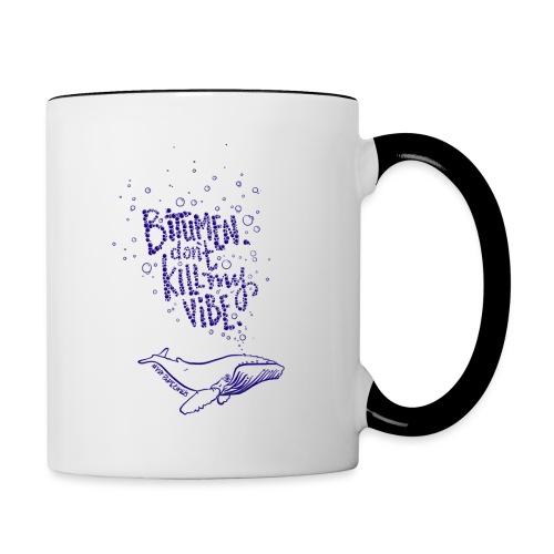 bitumen don't kill my vibe - navy - Contrast Coffee Mug