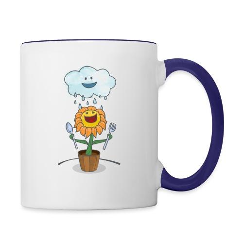Cloud & Flower - Best friends forever - Contrast Coffee Mug