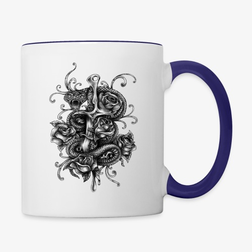 Dagger And Snake - Contrast Coffee Mug