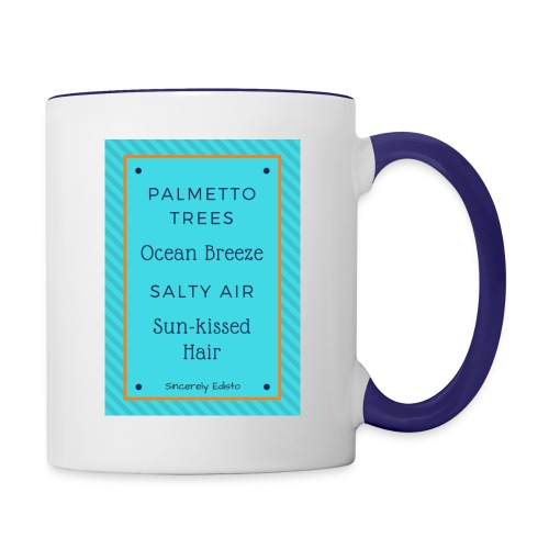 Palmetto Trees and Ocean Breeze - Contrast Coffee Mug