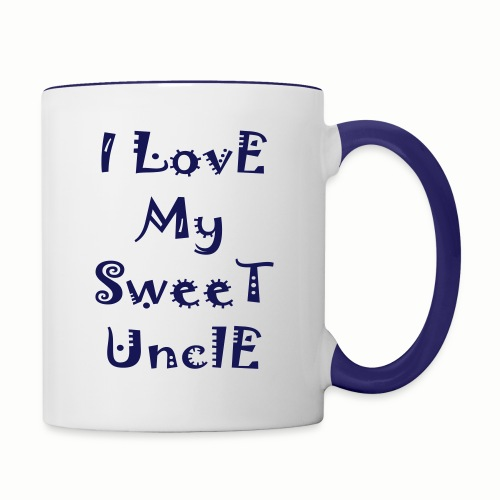 I love my sweet uncle - Contrast Coffee Mug