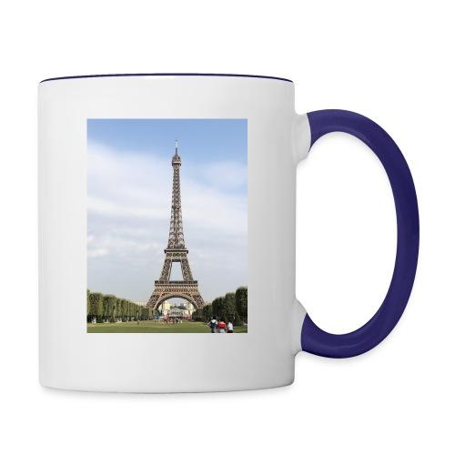 Eiffel Tower Paris, France - Contrast Coffee Mug