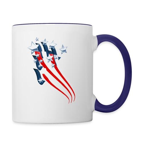 Sweeping American Flag - Contrast Coffee Mug