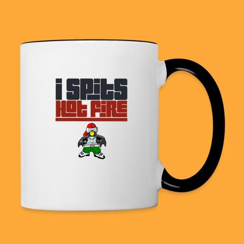I Spits Hot Fire - Contrast Coffee Mug