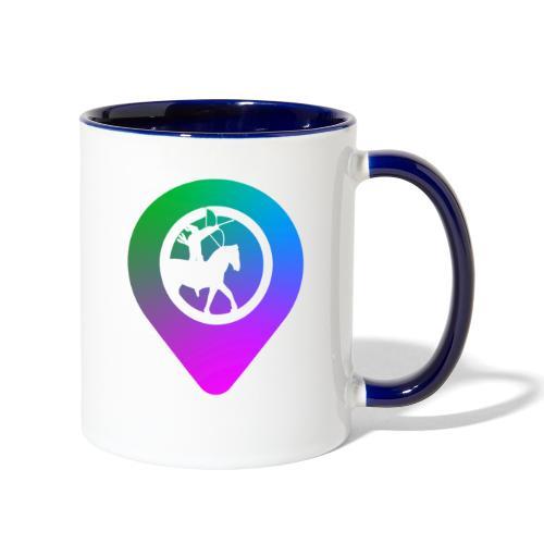 KC2Go Map Point - Contrast Coffee Mug