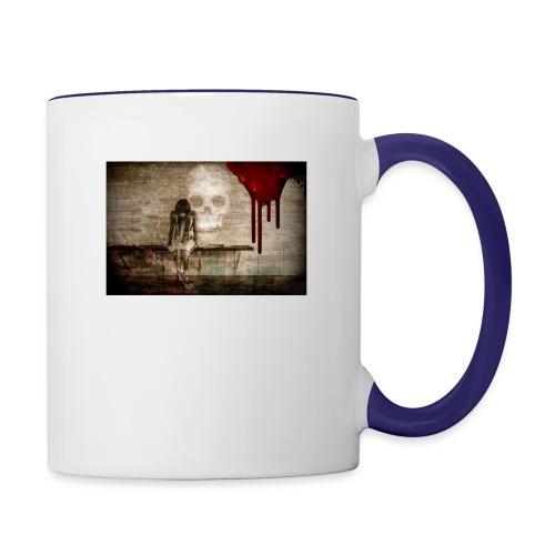 sad girl - Contrast Coffee Mug