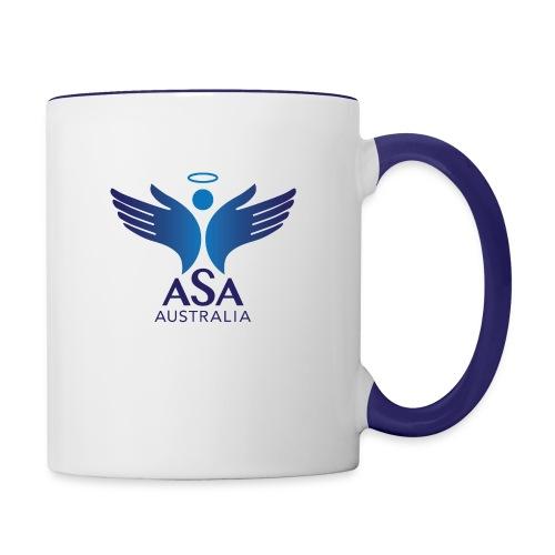 3459 Angelman Logo AUSTRALIA FA CMYK - Contrast Coffee Mug