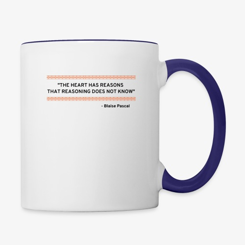 Blaise Pascal - Quote - Contrast Coffee Mug