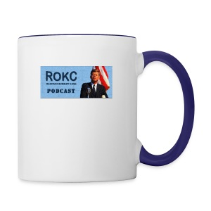 ROKC_Podcast_Logo_spreadshirt - Contrast Coffee Mug
