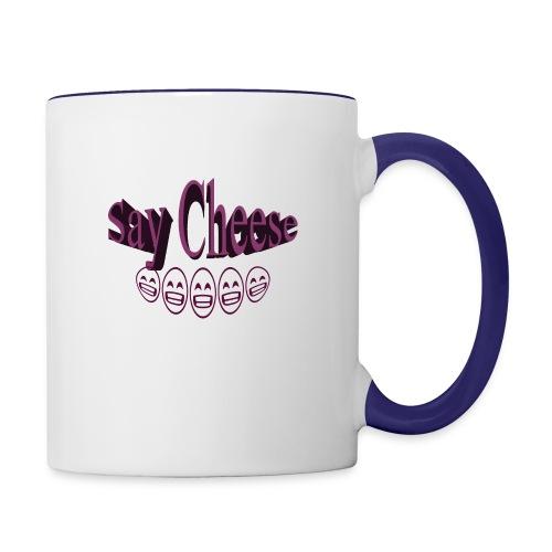Say cheese - Contrast Coffee Mug