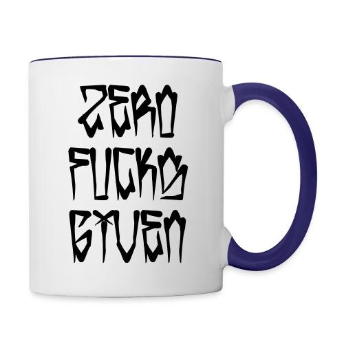 Zero Fucks Given - Contrast Coffee Mug