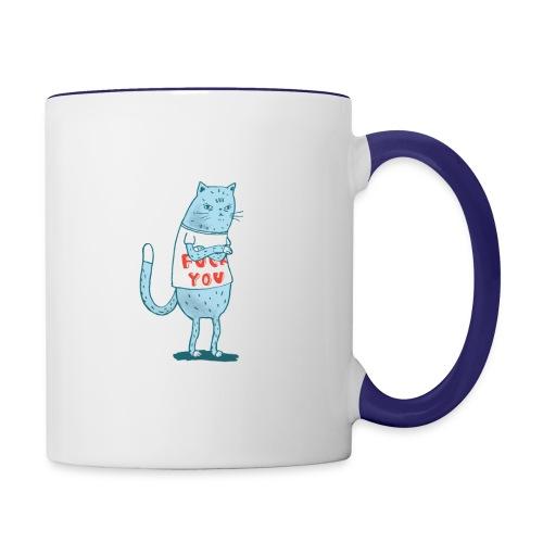 Sociopath Cat - Contrast Coffee Mug