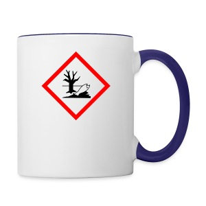 danger for the environment - Contrast Coffee Mug