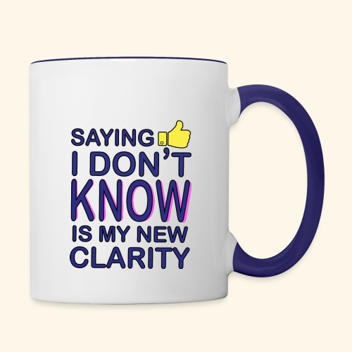 new clarity - Contrast Coffee Mug