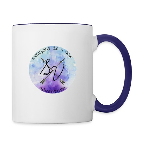 everyday is a new adventure logo - Contrast Coffee Mug