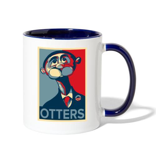 OTTERS (Hope Poster) - Contrast Coffee Mug